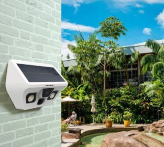 Sun Powered Security Camera